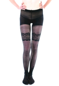 Polkadot Lace Tights