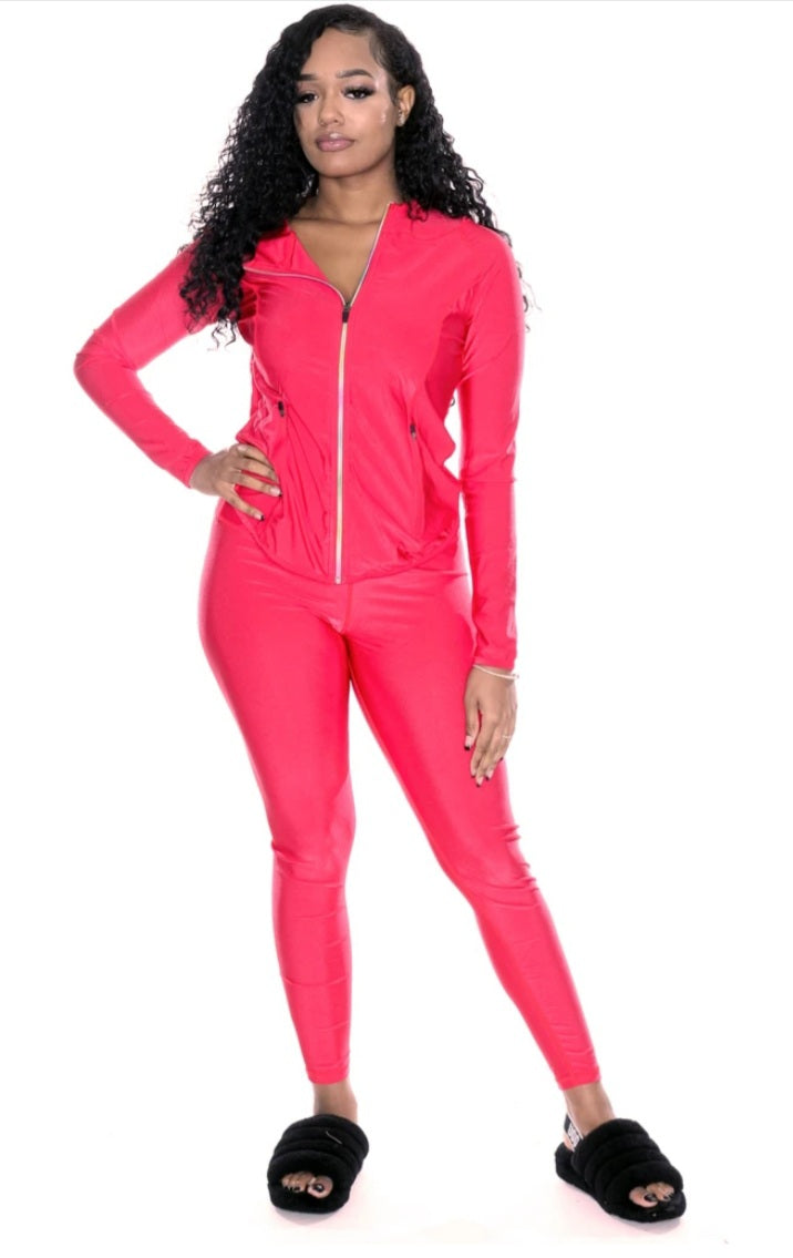 Nylon Jacket and Legging Set