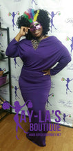 Plus Size Purple Goddess Dress