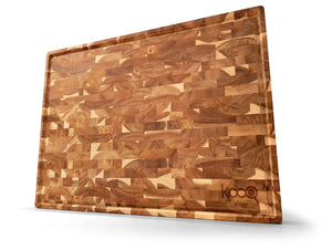 SUPER EXTRA LARGE ACACIA - Unique Design with big juice collecting groove! The last chopping board you need to buy for all your cooking needs