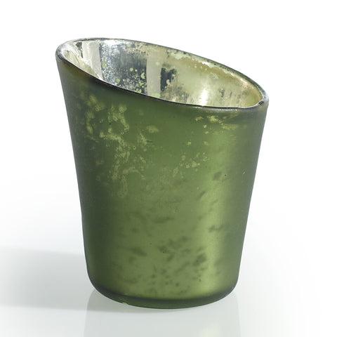 Green Color Glass Votive - LGA Glass Decor