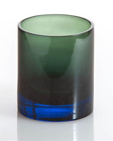 Ombre Old Fashion Cocktail Glass, Blue/Green - LGA Glass Decor