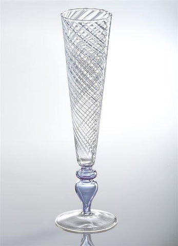 Isola Double Optical Glass Flute, Lavender - LGA Glass Decor