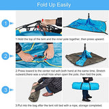 BATTOP 4 Person Family Camping Tent, 3 Usages Double Layer Waterproof Sun Shelter, Automatic Instant Pop Up Tents For Outdoor (Blue)