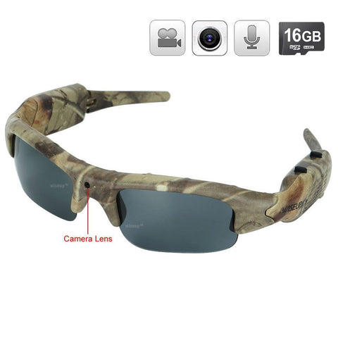 WISEUP 16GB 1280x720P HD Hidden Camera Hunting Glasses