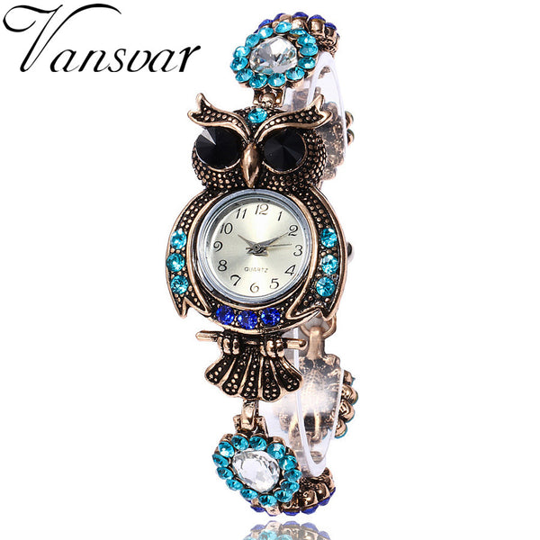 Vansvar Brand Owl Bracelet Watches