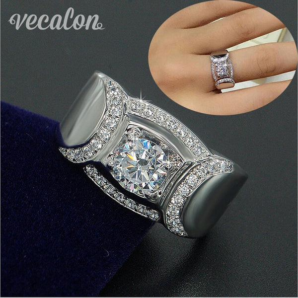 Vecalon Classic Jewelry Men Wedding band