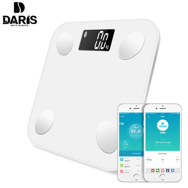 SDRISB Bathroom Scales Body Fat Digital Bathroom Weight Scales Electronic  0.01g Intelligent  Scales