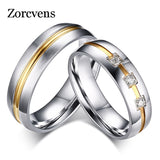 ZORCVENS 2017 New Fashion Hot Sale Men and Women CZ Stone Ring