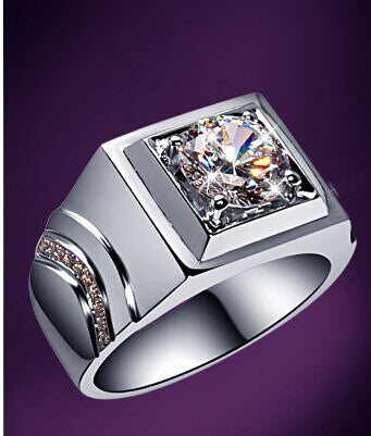 Unfailing Men Ring Super Brilliant 2Ct Round Cut Synthetic Diamonds Ring