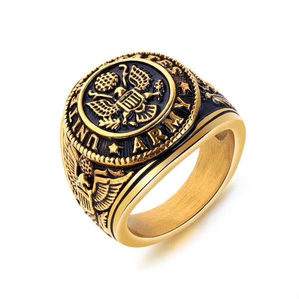Fate Love United States Army Eagle Ring Stainless Steel War Original Punk Fantastic Ring For Men Jewelry Gifts Stylish FL632