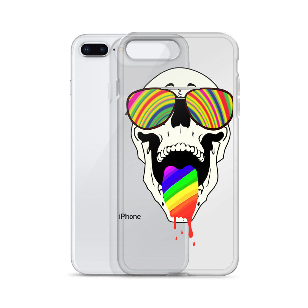 Rainbow Skull iPhone Case
