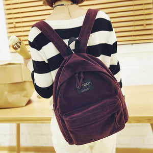 Burgundy Suede Vintage Backpack