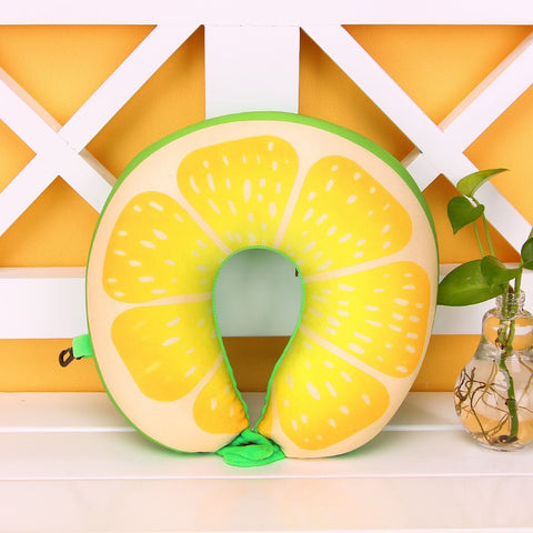 Image of The BEST Travel Pillow! Fun Fruity Pillows For Travel!