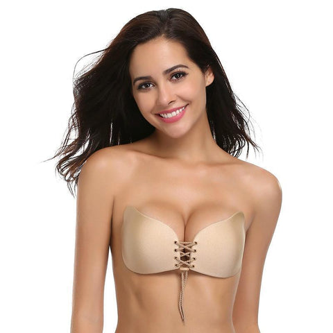 Backless Stick On Bra, Push Up & Invisible! Save 15% On 2, Free Shipping!-Bras-Modern Lemma