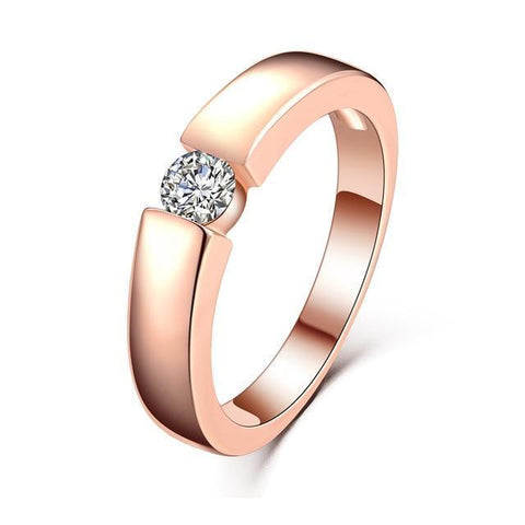 Image of Rose Gold Ring - Tension Setting, FREE Shipping!-Modern Lemma