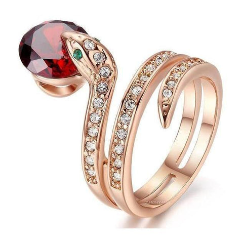 Snake Ring, Rose Gold, Free Shipping!-Rings-Modern Lemma