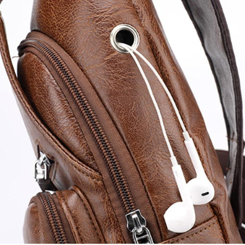 Image of The Best Men's Crossbody Bag, Free Shipping!-Waist Packs-Modern Lemma