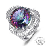 Seductive 15Ct Genuine Rainbow Fire Mystic Topaz 925 Sterling Silver Ring - Vera Nova Jewelry