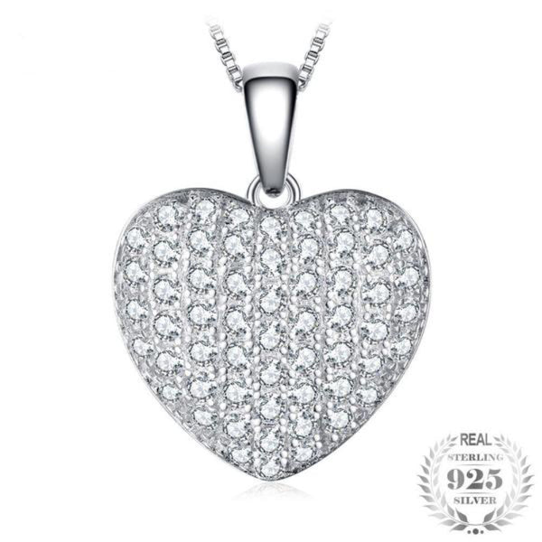 Elegant Heart 1.5Ct Pendant Necklace Made With 925 Sterling Silver - Vera Nova Jewelry
