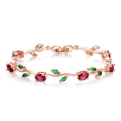 Astonishing Multi Color Leaf Chain & Link Bracelets - Vera Nova Jewelry
