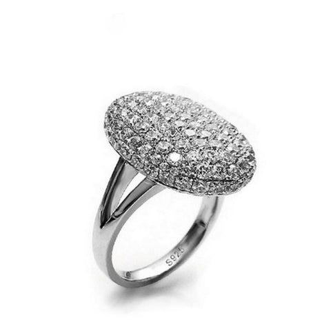 Bella Luxury Zircon 925 Sterling Silver Statement Rings - Vera Nova Jewelry