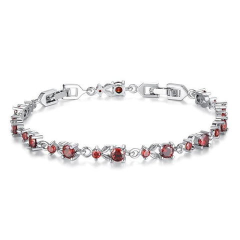 Cosmopolitan 6 Colors Luxury Aaa Cz 18K Platinum Plated Link Bracelets - Vera Nova Jewelry