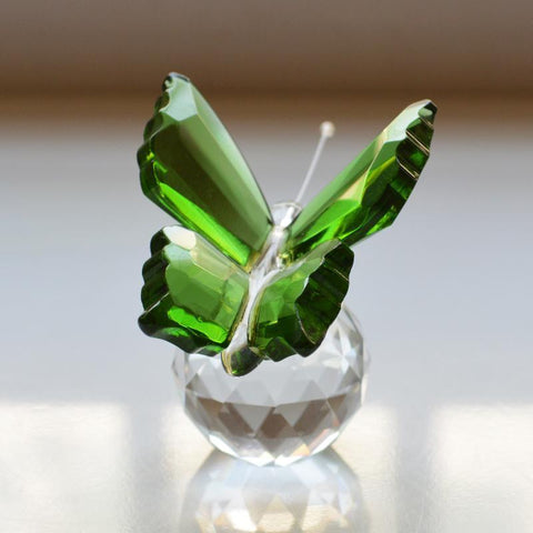 Crystal Butterfly Paperweight - Vera Nova Jewelry