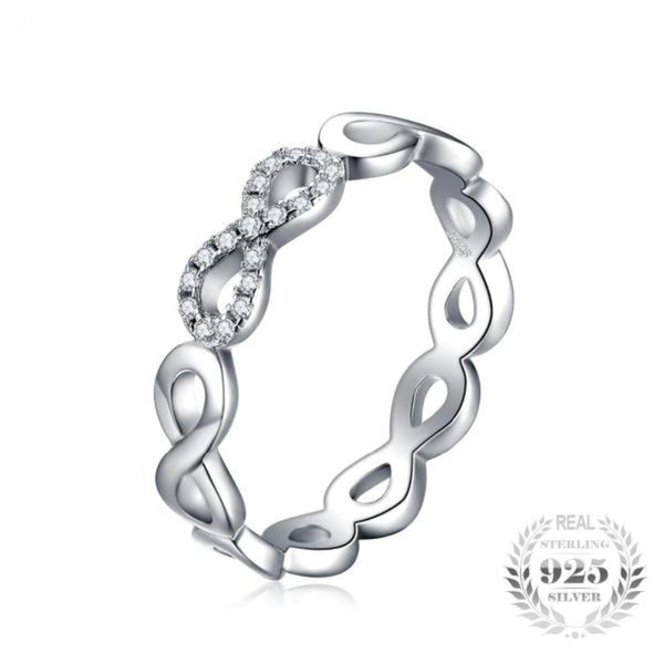 Elegant Infinity Forever Love Cubic Zirconia Rings Made With Pure 925 Sterling Silver - Vera Nova Jewelry