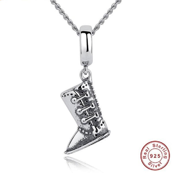 Extraordinary Boots Sterling Silver Pendants Necklace - Vera Nova Jewelry