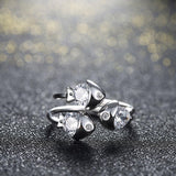 Gorgeous Little Fishes Sterling Silver Adjustable Rings-RINGS-Vera Nova Jewelry