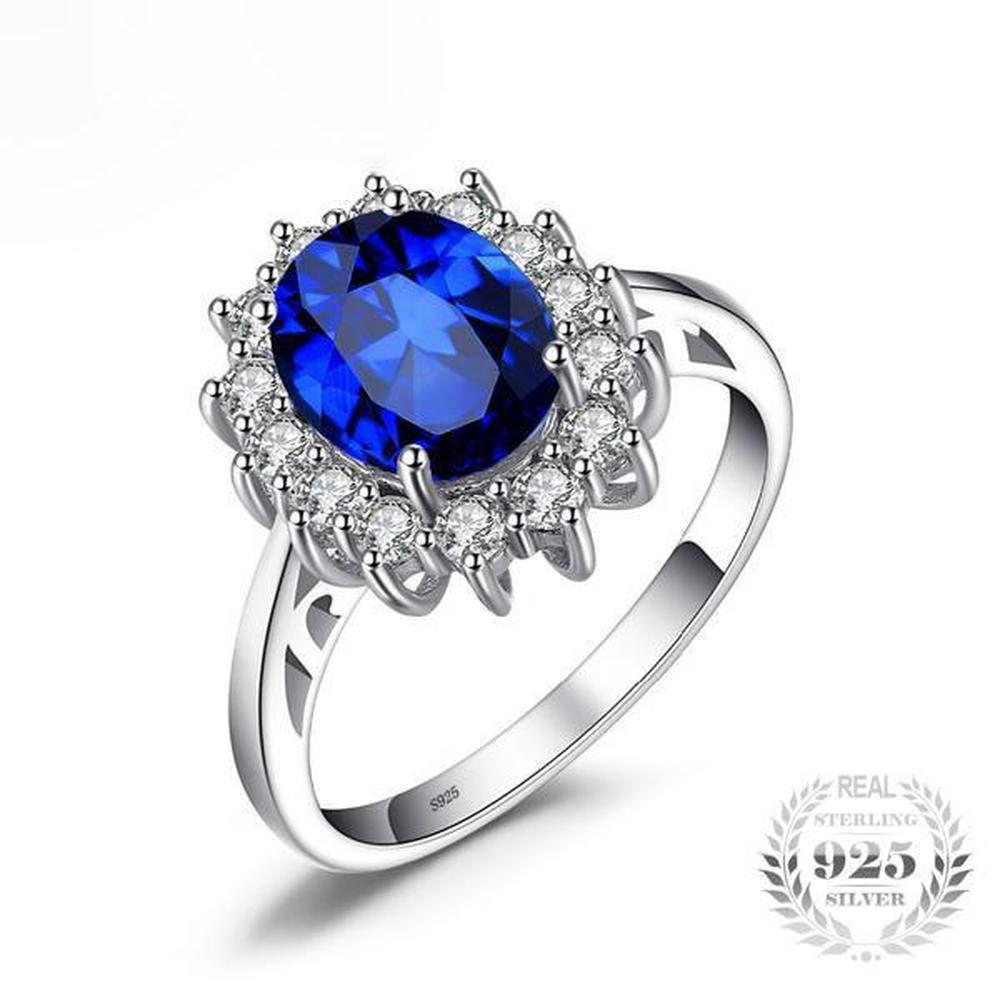 jewelry round rings white jewellery silver ring s lajerrio sapphire sterling flower cut engagement women