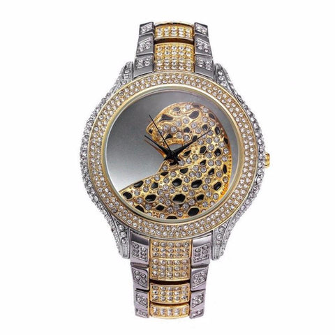 Luxury Leopard Rhinestone Crystal Quartz Watches - Vera Nova Jewelry