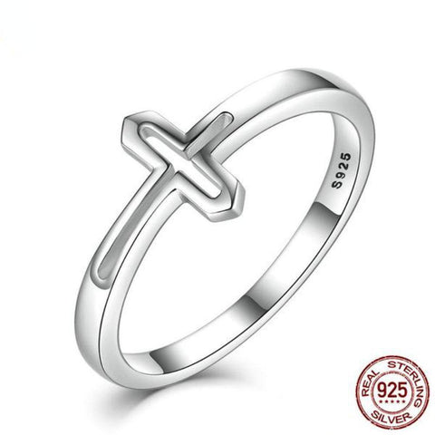 Symbol Of Faith Cross Rings Made With Genuine 100% 925 Sterling Silver-RINGS-Vera Nova Jewelry