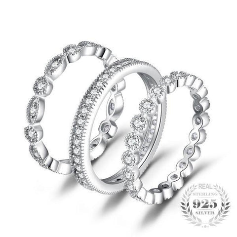 Tantalizing Eternity 2.15Ct Cubic Zirconia Band Rings Made With 925 Sterling Silver-RINGS-Vera Nova Jewelry