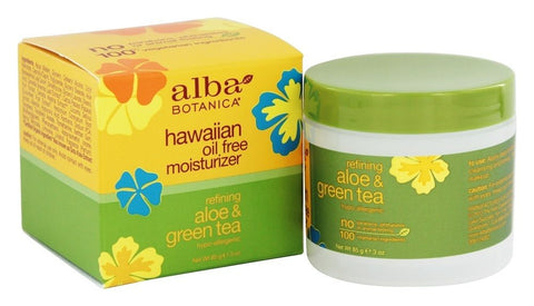 ALBA BOTANICA: Hawaiian Aloe and Green Tea Moisturizer Oil-Free, 3 oz