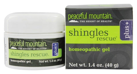 PEACEFUL MOUNTAIN: Shingles Rescue Plus + Homeopathic Gel, 1.4 oz