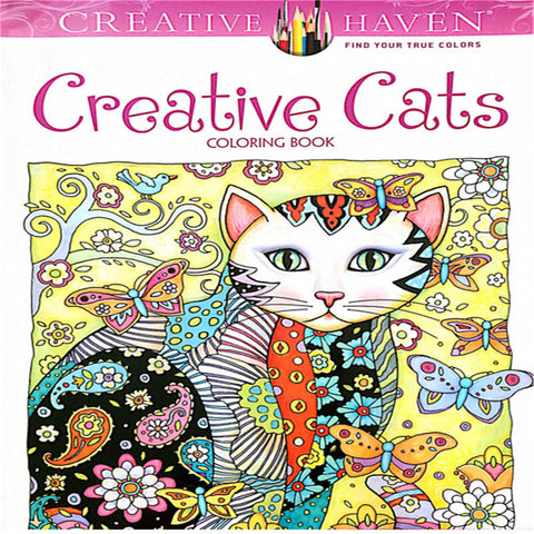 Creative Haven Creative Cats Colouring Book For Adults Antistress Coloring Book 18.5x21 Secret Garden Series Adult Coloring Book
