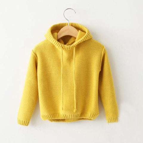 Toddler Girls Sweaters Coat Children's Hooded pullover Sweater Baby Boys girls Autumn&winter/Spring clothes Kids Tops