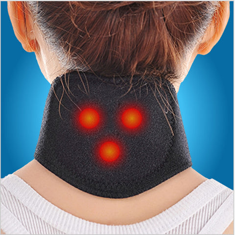 2017 New Tourmaline Magnetic Therapy Neck Massager Cervical Vertebra Protection Spontaneous Heating Belt Body Massager
