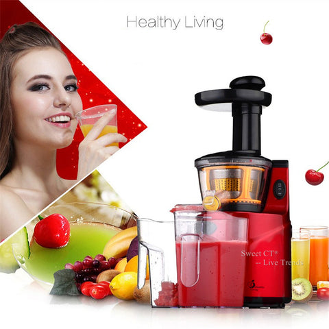 SAVTM Slow Juicer 250W Fruits Vegetables Low Speed Slowly Juice Extractor Juicers Fruit Drinking Machine For Home