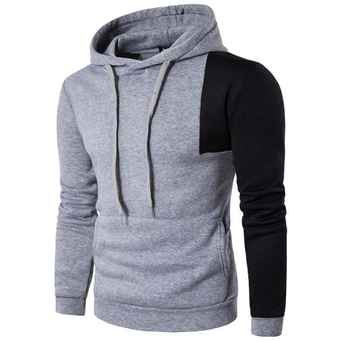2017 Hot Sale Men's Autumn Hoodies Causal Slim Fit Hooded Hoodie Sweatshirt Color Stitching Patchwork Hoody Tracksuit Pullover