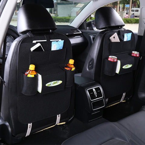 Car Back Seat Storage Organizer Trash Net Holder Multi-Pockets Travel Storage Bag Hanger for Auto Capacity Storage Pouch