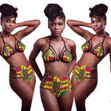 1Set Women Swimwear Bikini Set Bandage Push-Up Swimsuit Beachwear