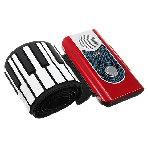 88 Key Hand Roll Up Electronic Keyboard Piano Flexible Piano With MIDI Keyboard & Case Cover For Musical Instruments Lover Gift