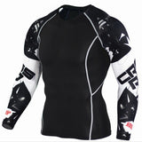 2017 Mens MMA Fitness T Shirts Fashion 3D Teen Wolf Long Sleeve Compression Shirt Bodybuilding Crossfit Brand Clothing Fitness