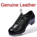 Brand Natural Leather Clogging Tap Shoes For Men And Women Lace Up Size  EU34-EU45 Jazz Clogging Shoe Excellent Free Shipping
