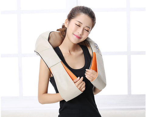 4D Electric kneading massage cape cervical kneading neck and shoulder massage neck device Infrared heating massage