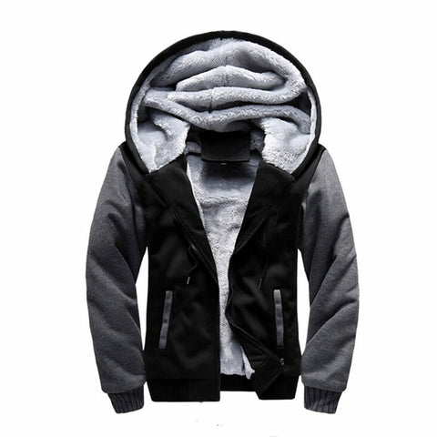2017 New Men Sweatshirt Winter Thick Hoodies Mens Fashion Cotton Hoodie Tracksuit Men's fleece Cardigans Sweatshirts 4XL 5XL
