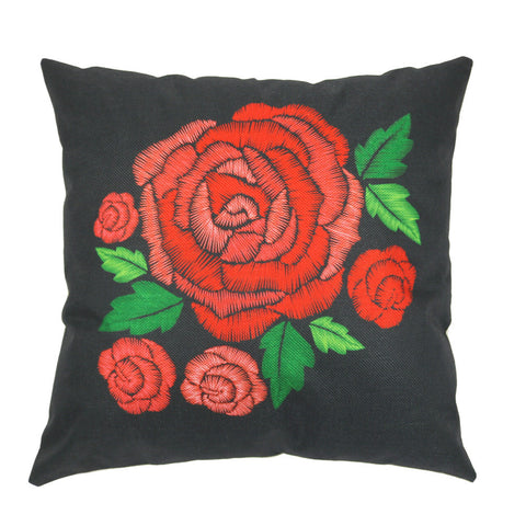 Printed Roses Pillow  Sofa Waist Throw Cushion Cover Home Decor